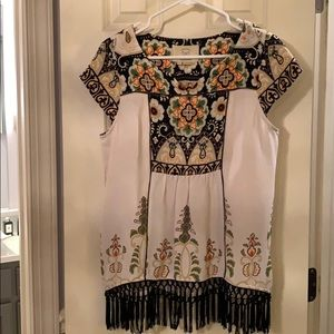 Anthropologie patterned top